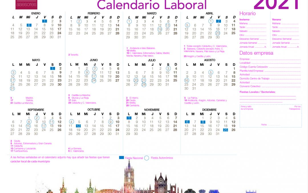 Descarga el calendario laboral 2021